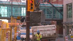 HD2008-10-4-25 construction site backhoe dumptruck Stock Video Footage