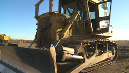 cat dozer Stock Video Footage