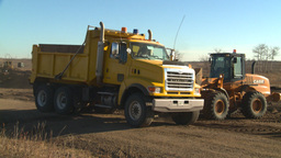 HD2008-10-10-5 Front end loder an dump truck Footage