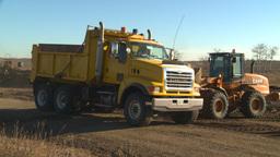 HD2008-10-10-5 Front end loder an dump truck Footage