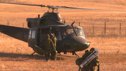 HD2008-10-11-4 heli idle troops out Footage