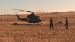HD2008-10-11-6 heli lift off Stock Video Footage