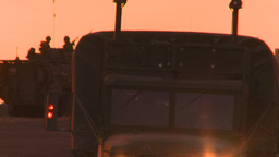 HD2008-10-11-22 silou LAV sunset truck Stock Video Footage