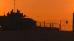HD2008-10-11-22 silou LAV sunset truck Stock Video Footage