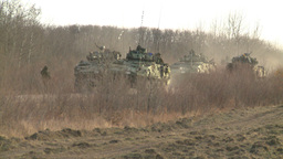 HD2008-10-16-4 LAV3 in the distance going thru checkpoint Footage