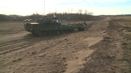 HD2008-10-16-10 leo tank and mine sweep Stock Video Footage