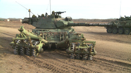 HD2008-10-16-12 leo tank and mine sweep Stock Video Footage