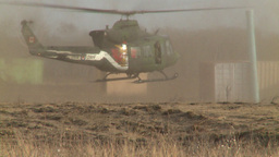 HD2008-10-16-14 helo take off dusty Stock Video Footage