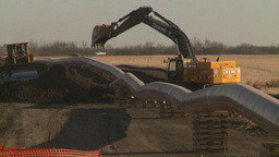 HD2008-10-17-7 pipeline const Stock Video Footage