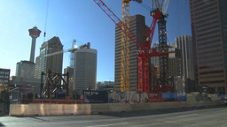 HD2008-10-17-17 constr site and traffic cgy Stock Video Footage