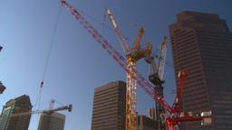 HD2008-10-17-19 constr site crane cgy Stock Video Footage