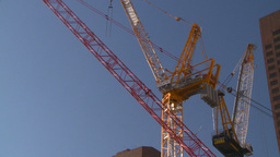 HD2008-10-17-19 constr site crane cgy Stock Video Footage