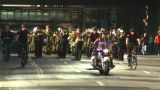 HD2008-10-17-23 Military Parade Polic Ebikes stock footage