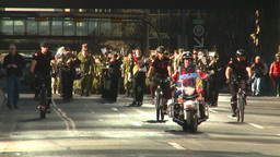 HD2008-10-17-23 military parade polic ebikes Footage