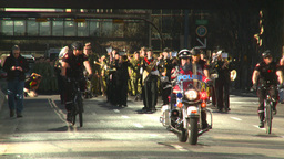 HD2008-10-17-23 military parade polic ebikes Stock Video Footage
