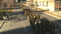 HD2008-10-17-25 military parade Footage