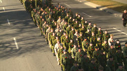 HD2008-10-17-25 military parade Stock Video Footage