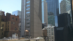 HD2008-9-1-4 NYC buildings rooftop water reservoirs Stock Video Footage