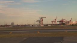 HD2008-9-1-10 int aircraft look at runway Stock Video Footage