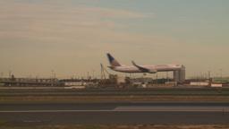 HD2008-9-1-12 int aircraft look at runway aircraft lands... Stock Video Footage