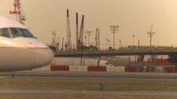 HD2008-9-1-16 int aircraft look at runway aircraft taxis... Stock Video Footage