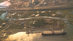 HD2008-9-1-18 aerial industrual new jersey Stock Video Footage