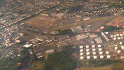 HD2008-9-1-20 aerial industrual new jersey oil storage Stock Video Footage
