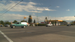 HD2008-9-1-36 gas stn traffic Stock Video Footage