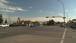 HD2008-9-1-36 gas stn traffic Stock Video Footage