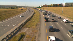 HD2008-9-2-15 Deerfoot traffic bumper to bumper Stock Video Footage