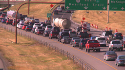 HD2008-9-2-19 Deerfoot traffic bumper to bumper Stock Video Footage