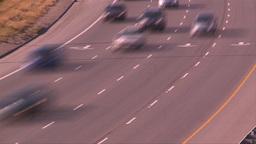HD2008-9-2-21 TL Deerfoot traffic bumper to bumper Stock Video Footage