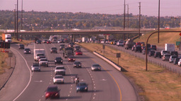 HD2008-9-2-23 TL Deerfoot traffic bumper to bumper Stock Video Footage
