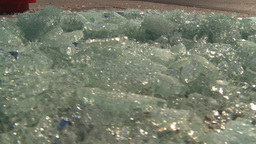 HD2008-9-3-2 shattered safety glass Stock Video Footage
