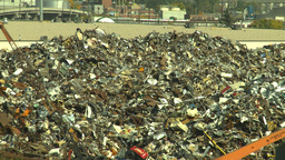 HD2008-9-3-14 metal recycler Z Stock Video Footage