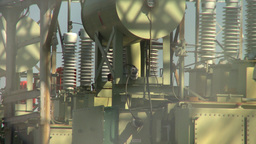 HD2008-9-3-20 electric substation Stock Video Footage
