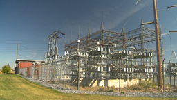 HD2008-9-3-22 electric substation Stock Video Footage
