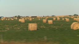 HD2008-9-3-48 drive wheat fields hay rolls Footage