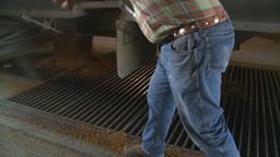 HD2008-9-3-56 grain truck unloading Stock Video Footage
