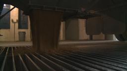 HD2008-9-3-58 grain truck unloading Stock Video Footage