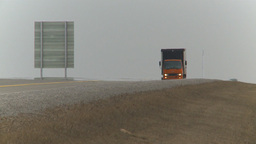 HD2009-4-1-2 delivery truck Stock Video Footage