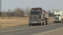 HD2009-4-1-6 semi truck Stock Video Footage