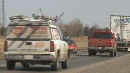 HD2009-4-1-8 semi truck Stock Video Footage