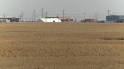 HD2009-4-1-10 early spring heat on field Stock Video Footage