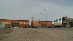 HD2009-4-1-12 freight train Stock Video Footage