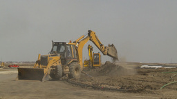 HD2009-4-1-14 backhoe Stock Video Footage