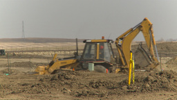 HD2009-4-1-28 backhoe Stock Video Footage