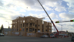 HD2009-4-1-30 condo construction site 120ton crane Footage