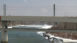 HD2009-4-2-8 LRT and bridge Stock Video Footage