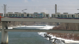 HD2009-4-2-8 LRT and bridge Stock Video Footage